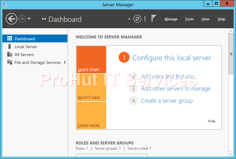 Windows Server 2012 R2 Domain Controller