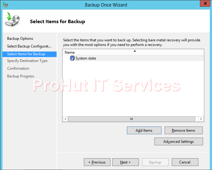 How to take System State Backup of Windows Server 2012 R2