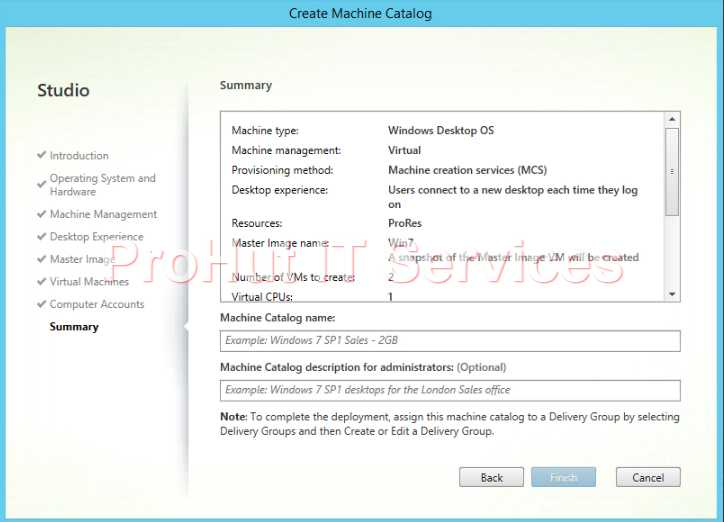 Configure Citrix XenDesktop 7.1 Catalog